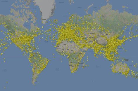 I cieli dell'estate: record di aerei in volo il 13 luglio – Flightradar24